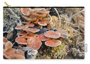 Frosted Cascading Mushrooms Carry-all Pouch