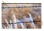 Frosted Fence Line Carry-all Pouch