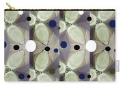 Frosted Green Flower Carry-all Pouch