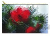 Frosted Hibiscus 3 Carry-all Pouch