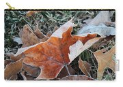 Frosted Leafs Carry-all Pouch