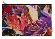 Frosted Leaves #2 - Painted Carry-all Pouch
