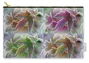 Frosted Maple Leaves In Warm Shades Carry-all Pouch