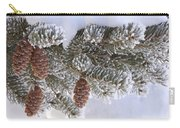 Frosted Pine Tree And Cones 1 Carry-all Pouch
