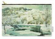 Frosted Trees Carry-all Pouch by Jonas Lie