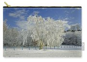 Frosted Trees - Newton Road Park Carry-all Pouch