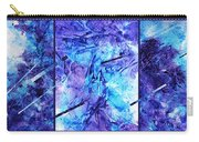 Frozen Castle Window Blue Abstract Carry-all Pouch