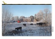 Frosty Barnyard Carry-all Pouch
