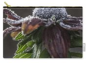 Frosty Black Eyed Susan Carry-all Pouch