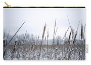Frosty Cattails Carry-all Pouch