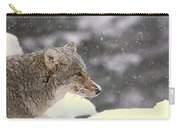 Frosty Coyote Carry-all Pouch