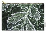 Frosty Leaves Macro Carry-all Pouch