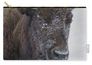 Frosty Morning Bison Carry-all Pouch