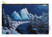 Frosty Night In The Mountains Carry-all Pouch