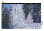 Frosty Trees Carry-all Pouch