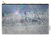 Frosty Window Distant Sun Carry-all Pouch