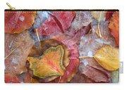 Frozen Autumn Aspen Leaves Carry-all Pouch