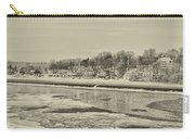 Frozen Boathouse Row In Sepia Carry-all Pouch