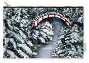 Frozen Brook - Winter - Bridge Carry-all Pouch