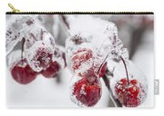 Frozen Crab Apples On Snowy Branch Carry-all Pouch