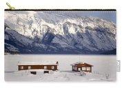 Lake Minnewanka, Alberta - Banff - Frozen Docks Carry-all Pouch