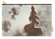 Frozen Oak Leaf Abstract Nature Detail Carry-all Pouch