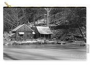 Frozen Pond In Black And White Carry-all Pouch