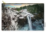 Frozen Snoqualmie Falls Carry-all Pouch