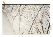Frozen Tree Branches In Winter Carry-all Pouch