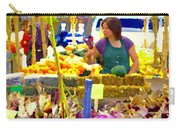 Fruit And Vegetable Vendor Roadside Food Stall Bazaars Grocery Market Scenes Carole Spandau Carry-all Pouch