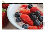 Fruit And Yogurt Snack 2 Carry-all Pouch by Barbara Griffin