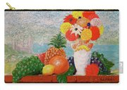 Fruit Flowers And Castle Carry-all Pouch