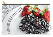Fruit I - Strawberries - Blackberries Carry-all Pouch