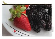 Fruit II - Strawberries - Blackberries Carry-all Pouch by Barbara Griffin