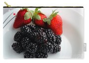 Fruit IIi - Strawberries - Blackberries Carry-all Pouch
