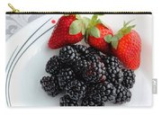Fruit Iv - Strawberries - Blackberries Carry-all Pouch