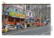 Fruit Shop And Street Scene Shanghai China Carry-all Pouch