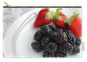 Fruit V - Strawberries - Blackberries Carry-all Pouch