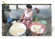 Fruit Vendor On Street Yangon Myanmar Carry-all Pouch