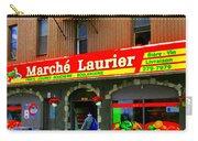 Fruiterie Marche Laurier Butcher Boulangerie De Pain Produits Quebec Market Scenes Carole Spandau  Carry-all Pouch