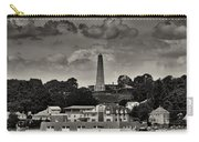 Ft Griswald Monument Black And White Carry-all Pouch