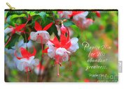 Fuchsia Blooms With Scripture Carry-all Pouch
