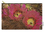 Fuchsia Cactus Flowers Gold Leaf Carry-all Pouch