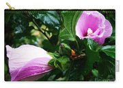 Fuchsia Flowers Laced In Droplets Carry-all Pouch