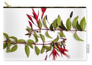Fuchsia Stems On White Carry-all Pouch