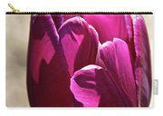 Fuchsia Tulip Petals Carry-all Pouch
