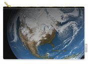 Ful Earth Showing Simulated Clouds Carry-all Pouch by Stocktrek Images