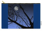 Full Moon And Black Winter Tree Carry-all Pouch