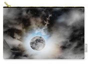 Full Moon  In Stormy Sky Carry-all Pouch