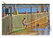 Fun At The Ferry Dock On Brier Island In Digby Neck-ns Carry-all Pouch